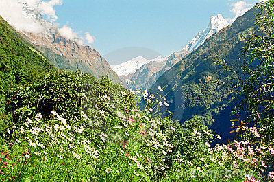 Annapurna Himalaya Mountains, Nepal