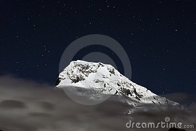 Annapurna South at night,Nepal
