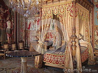 Anne of Austria room in Fontainebleau castle Editorial Stock Photo