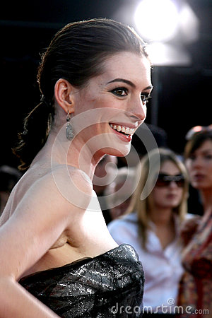 Anne Hathaway Editorial Stock Photo