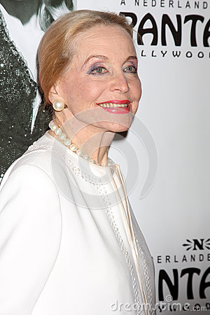 Anne Jeffreys arrives at the Opening Night of the Play  Editorial Photography