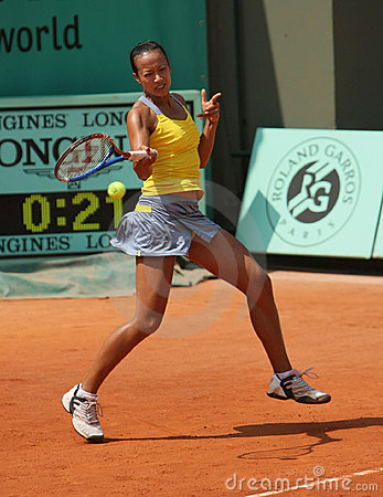 Anne KEOTHAVONG (GBR) at Roland Garros 2010 Editorial Stock Photo