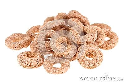 Anneau de céréales de chocolat