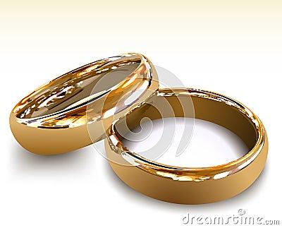 Photo stock: Anneaux de mariage d or. Illustration de vecteur