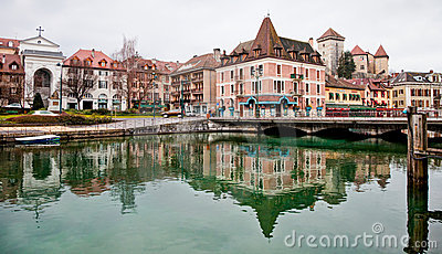 Annecy Canal, France Editorial Stock Image