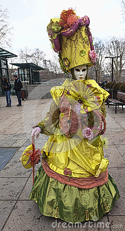 Disguised Person Editorial Image