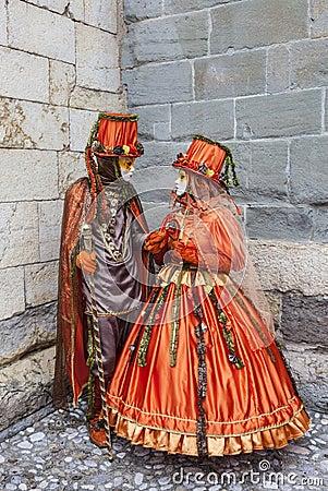 Venetiaanse Scène Redactionele Stock Foto