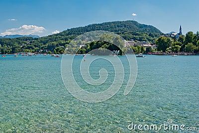 Annecy lake landscape, Savoy