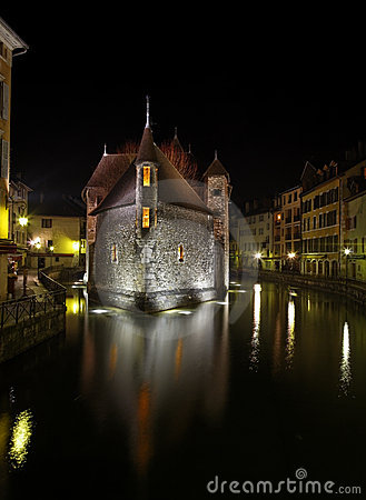 Annecy by night Editorial Photography