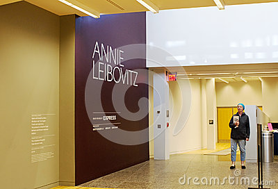Annie Leibovitz Exhibition Editorial Photo