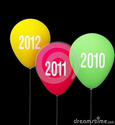 Anniversary baloon of year