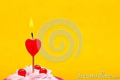 Anniversary cupcake