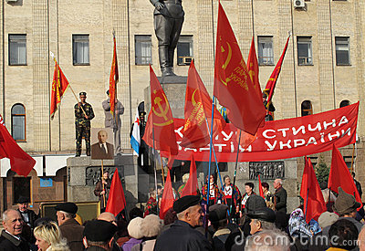 An anniversary of October Revolution Editorial Photo