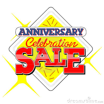 Anniversary Sale Heading