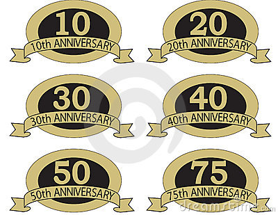 Anniversary seals with