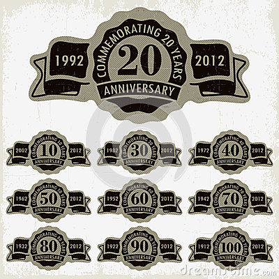 Anniversary signs and cards  design
