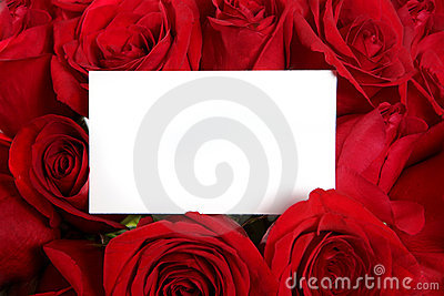 Anniversary or Valentine Blank Message Card Surrou