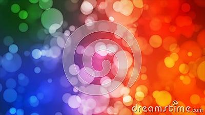 Annoncez Bokeh léger, couleur multi, événements, Loopable, 4K banque de vidéos