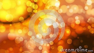 Annoncez Bokeh léger, d'or, événements, Loopable, 4K banque de vidéos
