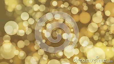 Annoncez Bokeh léger, jaune, événements, Loopable, 4K banque de vidéos