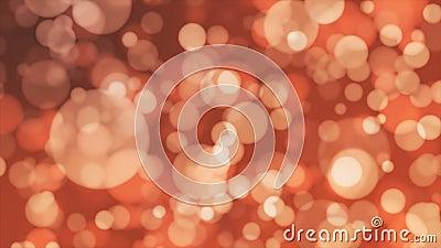 Annoncez Bokeh léger, orange, événements, Loopable, 4K banque de vidéos