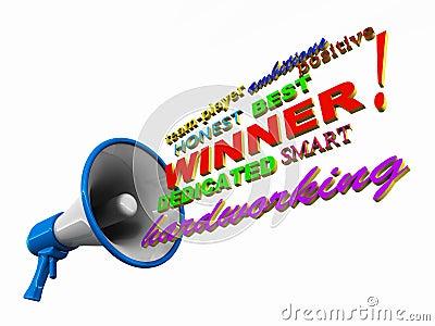 Announce winner
