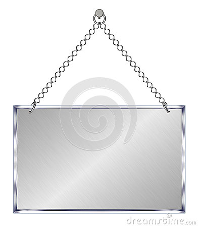 Announcement board, hangs on chains