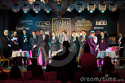 Announcement of winners of Sommeliers competition Editorial Image