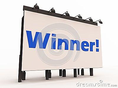 Announcing winner