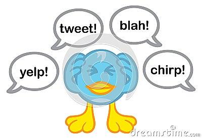 Annoyed blue bird