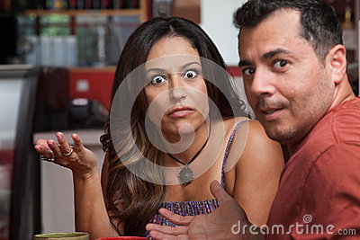 Annoyed Couple in Cafe