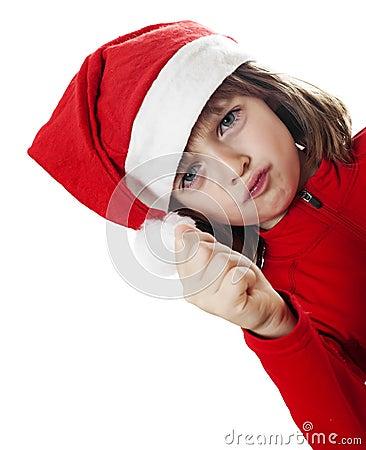 Annoyed little santa