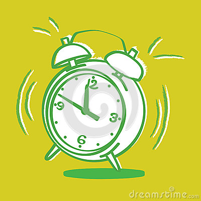 Annoying alarm clock vector