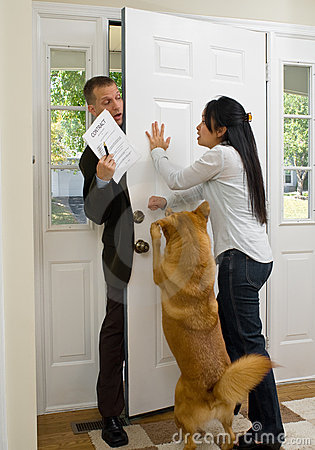 Free Annoying Salesman Stock Photo - 3369540