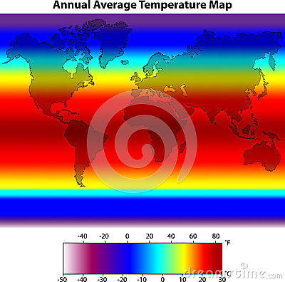 Annual Average Temperature Map