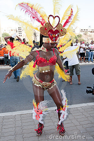 The annual Carnival in Cape Verde 2011 Editorial Photography