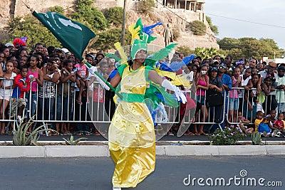 The annual Carnival in Cape Verde 2011 Editorial Stock Photo