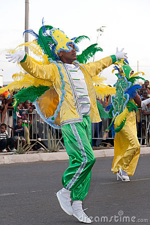 The annual Carnival in Cape Verde 2011 Editorial Stock Photo