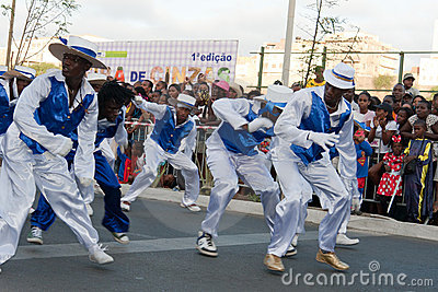 The annual Carnival in Cape Verde 2011 Editorial Photo