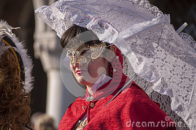 Annual Carnival at the city of Venice, Italy Editorial Stock Image