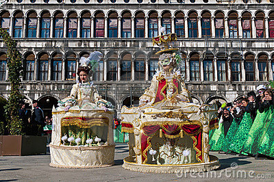 Annual Carnival performed at Venice, Italy Editorial Stock Photo