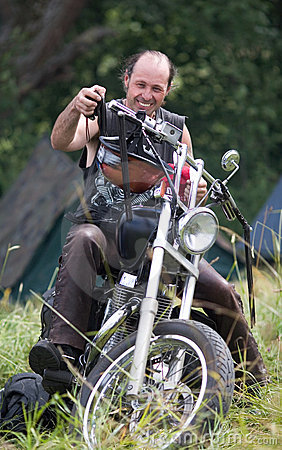 Annual international bikers festival Editorial Stock Photo