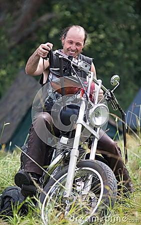 Annual international bikers festival Editorial Stock Photo