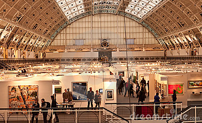 The Annual London Art Fair. Editorial Stock Photo