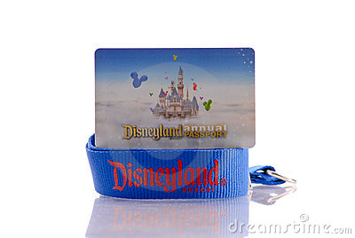 Annual Pass for Disneyland Editorial Stock Image