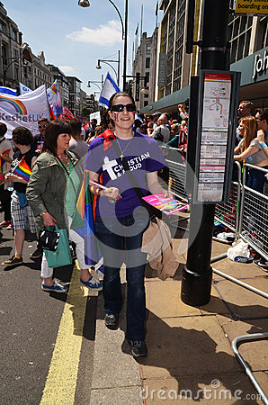 The annual Pride march through London that celebrate Gay, Lesbia Editorial Image