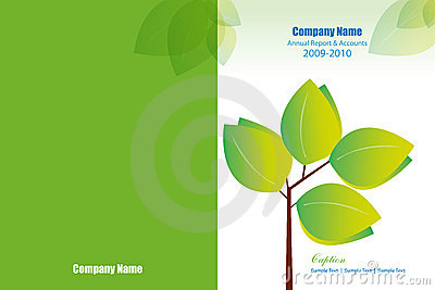 Annual report cover layout