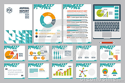 Annual Report Cover A4 Sheet And Presentation Template Stock ...