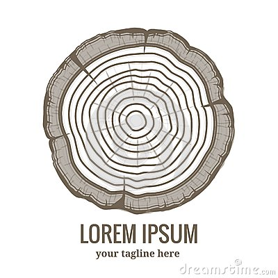 Free Annual Tree Growth Rings Logo Icon Stock Photography - 44352972