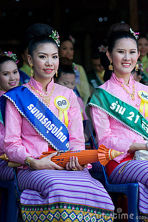 The annual Umbrella Festival in Chiang Mai Editorial Stock Photo